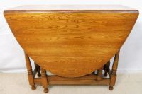 Light Oak Oval Dropleaf Gateleg Dining Table - SOLD